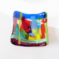 Tiny Fused glass Dish #3