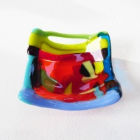 Tiny Fused glass Dish #4