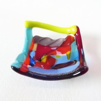 Tiny Fused glass Dish #5