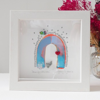 Dream big little one! -tiny framed picture