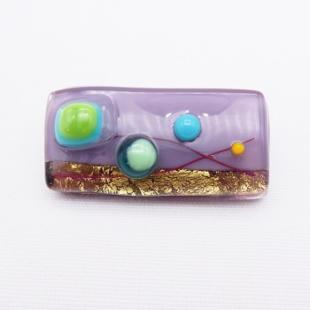 Purple Ór Brooch #2