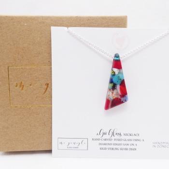 Multicoloured Glass geo pendant #2