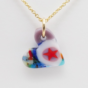 Millieforie  glass heart on filled gold #2