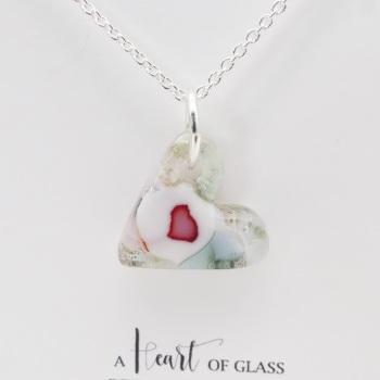 Miliforie glass heart on silver #3