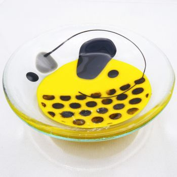 NEW Small Fused Glass Art Bowl #2