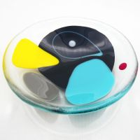 NEW Small Fused Glass Art Bowl #3