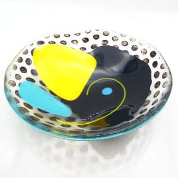 NEW Small Fused Glass Art Bowl #4