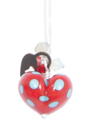 Red & Turquoise Heart Cluster