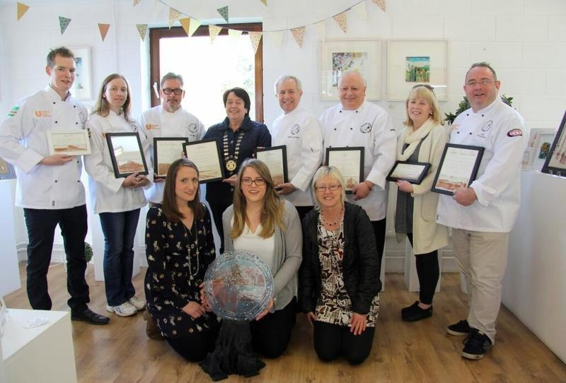 The North West Culinary team, Mayor Of Donegal Town and Mc Gonigle Glass