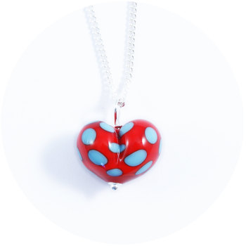 Red & Turquoise Heart