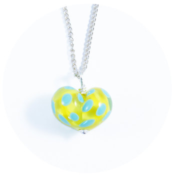 Yellow & Turquoise Heart