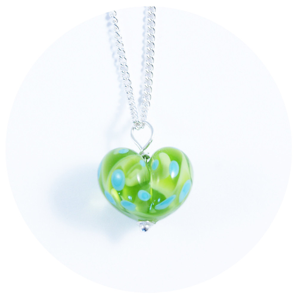 Green & Turquoise Heart