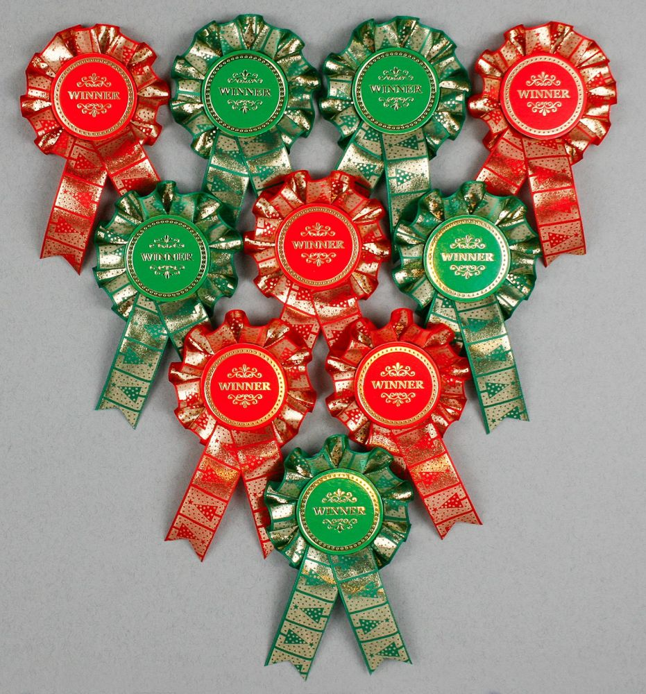 Mouse over image to zoom      Christmas-Mini-Winner-Well-Done-Rosettes-x-1