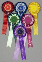 Large Christmas 2-Tier Rosettes, Wide Tails, Set 1st-6th