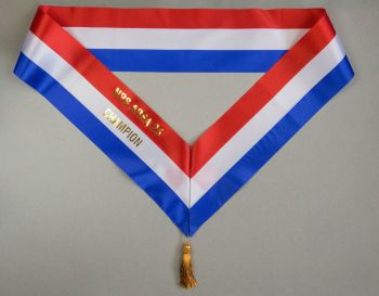 Traditional 3-ribbon Sash, approx 133mm wide
