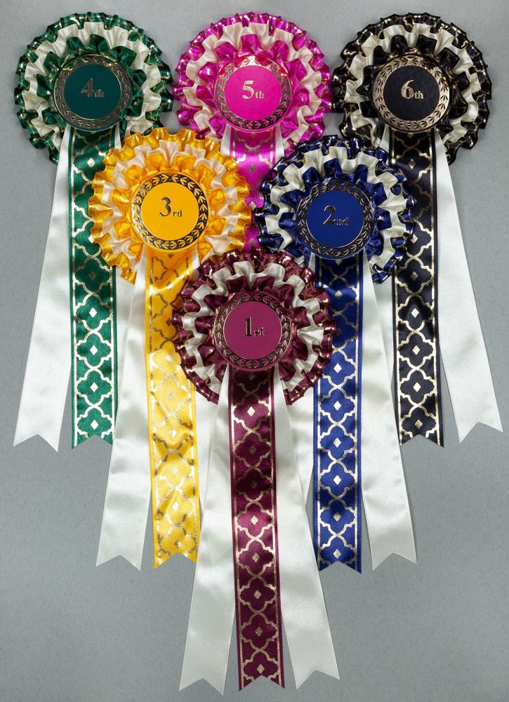 Magnifico Decorative 3-Tier Rosettes, Set 1st-6th Horse, Dog