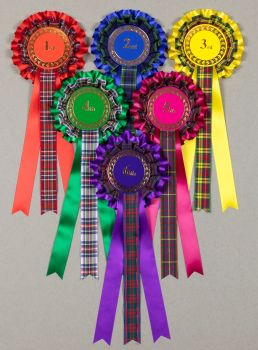 TARTAN 2-tier Large Rosettes, Set 1st - 6th