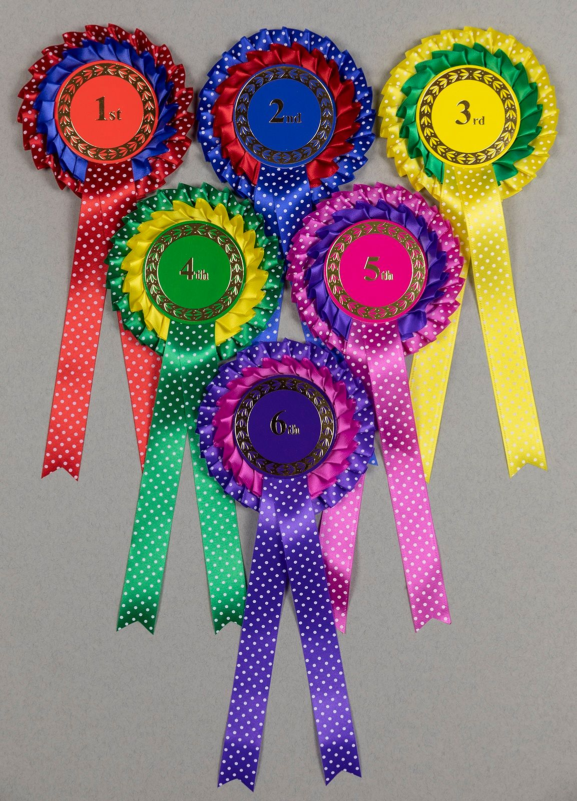 Spotty 2-tier Large Rosettes, Set 1st - 6th