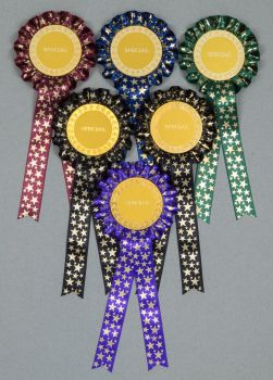 Winter Star 1-Tier Rosettes, Set x 6 Special, Well Done or Clear