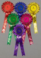 Easter Rosettes, 1-tier, Set x 1st-3rd, 1st-4th or 1st-6th