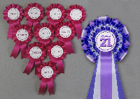 <!--005 -->Individually Personalised Rosettes