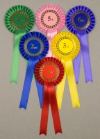 Classic Large 1-Tier Rosettes, Set of 1st - 6th