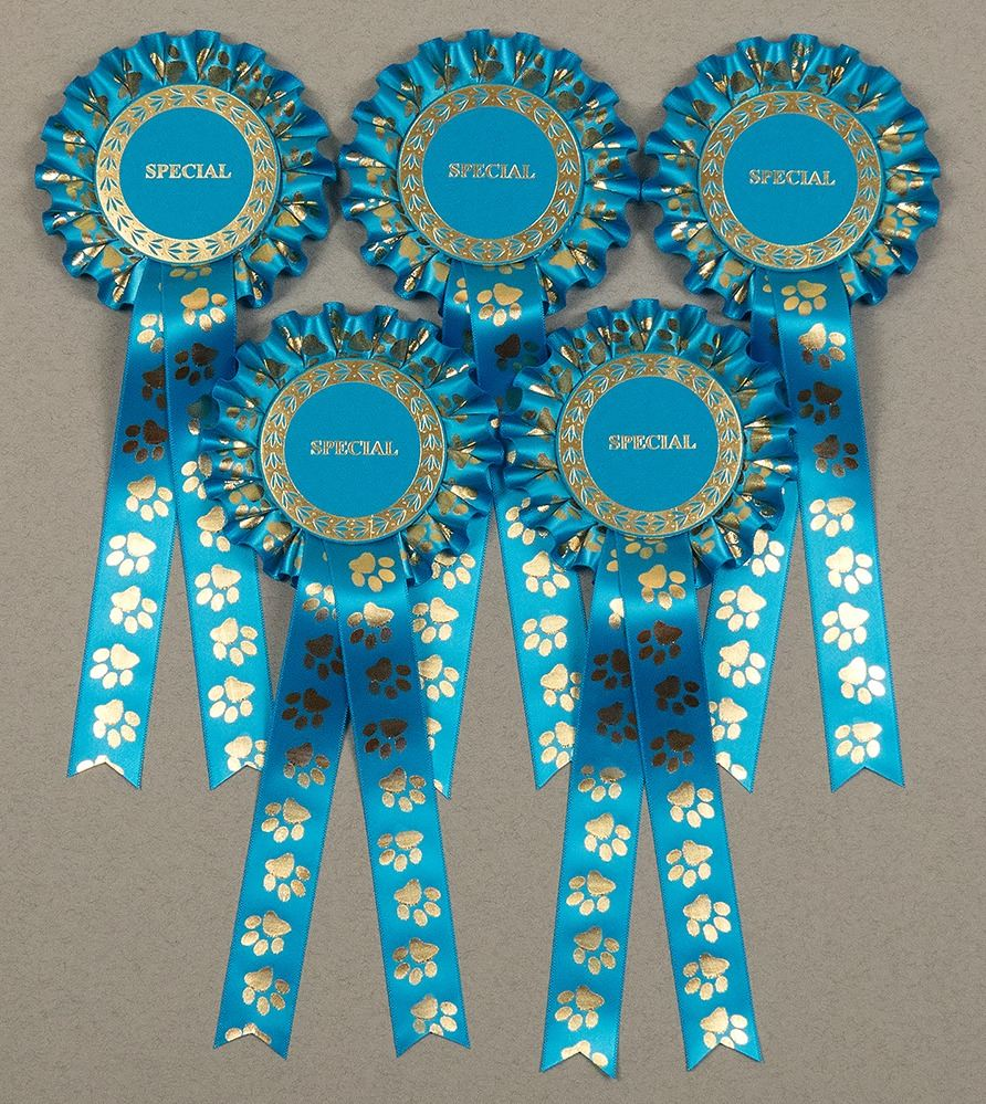 Paw Print Large 1-Tier Rosettes x 5