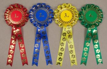 Paw Print Large 1-Tier Rosettes, Set 1st-4th
