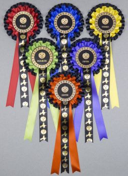 HALLOWEEN 2-tier Large Rosettes, Set 1st - 6th