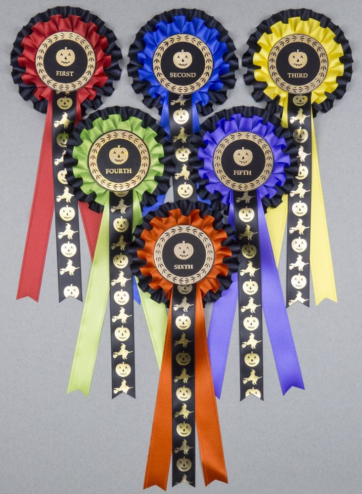 2-Tier HALLOWEEN Large Rosettes, Set 1st - 6th