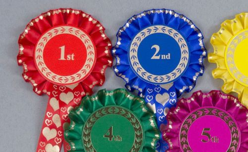 Valentine's Heart Rosettes, Set x 1st-3rd, 1st-4th or 1st-6th