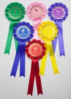 Large 1-Tier Box Pleat Rosettes, Set 1st-6th