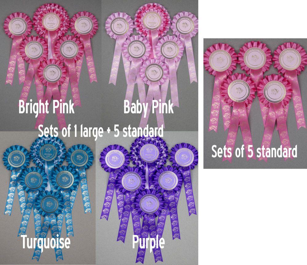 Pony Party Large 1-Tier Rosettes Set