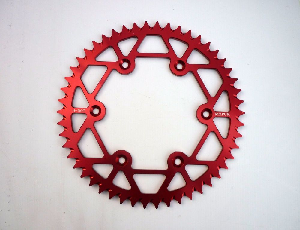 RED REAR SPROCKET 50T (551)