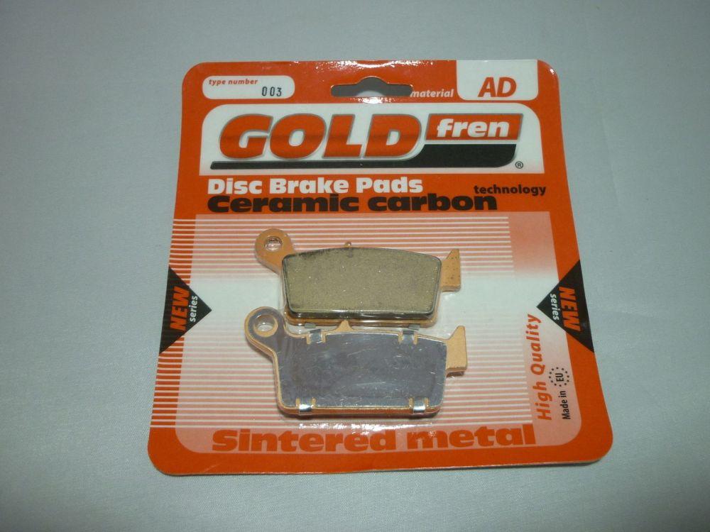 GOLD FREN REAR BRAKE PADS  AD003 (251)