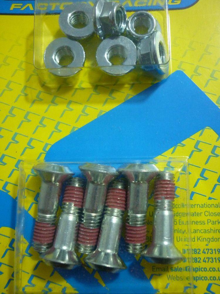 REAR SPROCKET BOLTS & NUTS M8 30mm (307)