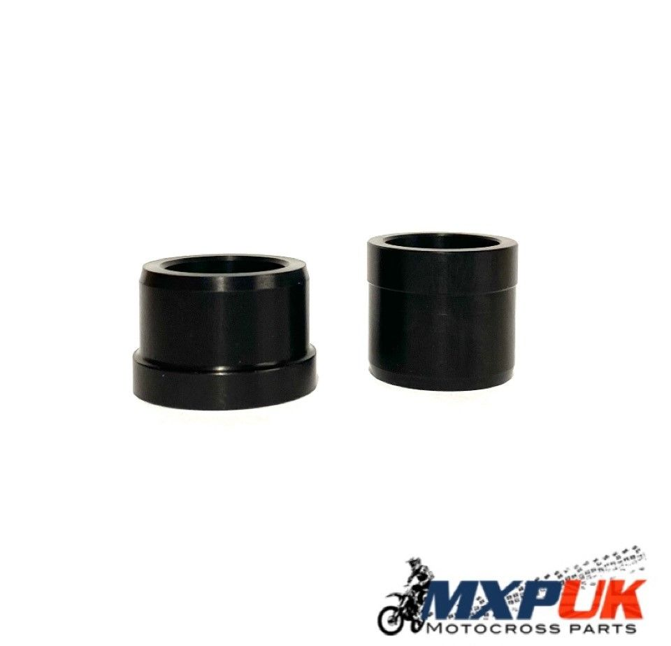 FRONT WHEEL SPACERS HARD ANODIZED BLACK (247)