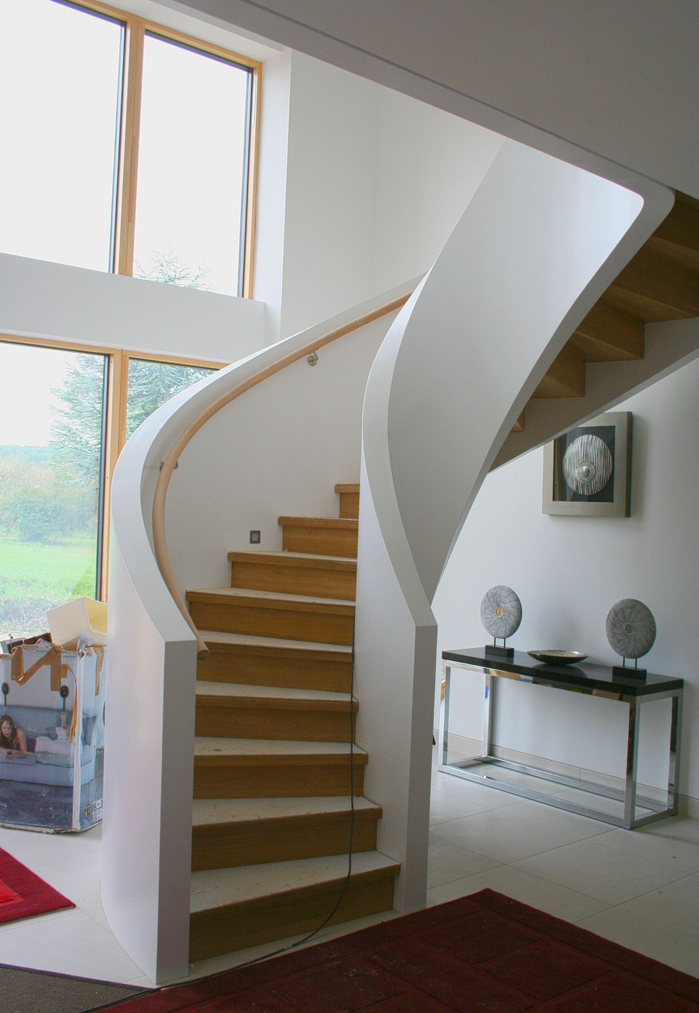 ... Bespoke Designer Curved Staircase Contempoary ...