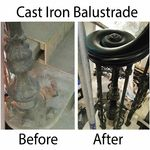 iron balustrade restoration