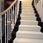 Bespoke staircase with iron balustrade