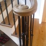 Scroll Terminal, volute, traditional staitcase continous oak handrail