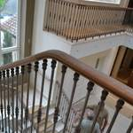 metal balustrade and timber handrail