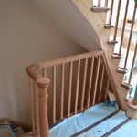 Unique curved timber handrail