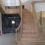 curved staircase with twin scroll terminal