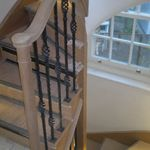 bespoke handrail termination into string