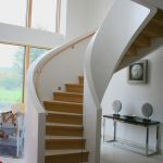 Bespoke Designer Curved Staircase contempoary