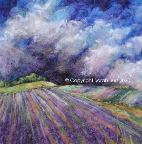 Storm Beyond the Lavender Field