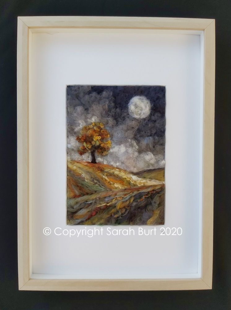 Copyright - November Moon I framed