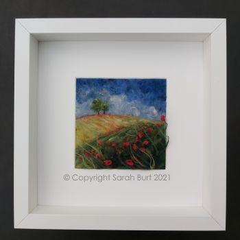 Copyright - Framed Poppy Field