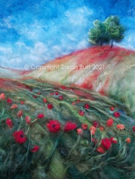 SOLD-  Poppies Upon the Hill